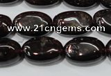 CGA470 15.5 inches 8*12mm oval natural red garnet beads