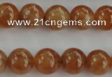 CGA502 15.5 inches 6mm round A grade yellow red garnet beads