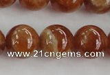 CGA504 15.5 inches 10mm round A grade yellow red garnet beads