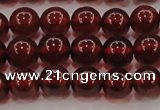 CGA608 15.5 inches 7mm AA grade round natural orange garnet beads