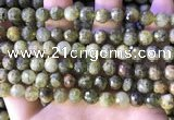CGA706 15.5 inches 8mm faceted round green garnet beads