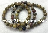 CGB2600 7.5 inches 9mm round natural pietersit beaded bracelets