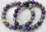 CGB2606 7.5 inches 9mm round natural sugilite beaded bracelets