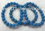 CGB2622 7.5 inches 8mm round natural apatite beaded bracelets