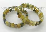 CGB3109 7.5 inches 8*15mm oval agate gemstone bracelets