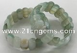 CGB3146 7.5 inches 11*23mm faceted oval agate bracelets