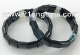 CGB3174 7.5 inches 12*15mm rectangle agate bracelets wholesale