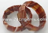 CGB3189 7.5 inches 15*25mm rectangle agate bracelets wholesale