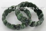 CGB3230 7.5 inches 12*20mm oval ruby zoisite bracelets