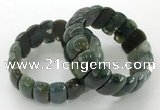 CGB3248 7.5 inches 12*25mm oval Indian agate bracelets