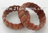 CGB3254 7.5 inches 12*25mm oval red jasper bracelets