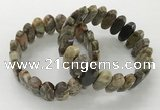 CGB3316 7.5 inches 10*20mm faceted oval rainforest agate bracelets
