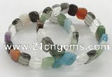 CGB3446 7.5 inches 10*15mm faceted marquise mixed gemstone bracelets