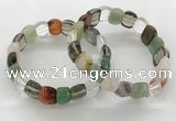CGB3467 7.5 inches 10*14mm faceted oval mixed gemstone bracelets