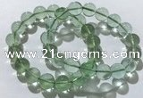 CGB4052 7.5 inches 12mm round green fluorite beaded bracelets