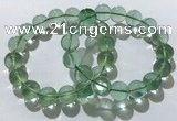 CGB4053 7.5 inches 14mm round green fluorite beaded bracelets