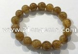 CGB4085 7.5 inches 12mm round golden rutilated quartz beaded bracelets