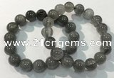 CGB4106 7.5 inches 13mm round rutilated quartz beaded bracelets