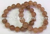 CGB4615 12mm - 13mm round golden rutilated quartz beaded bracelets