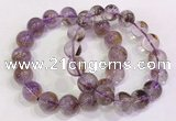 CGB4669 12mm - 13mm round purple phantom quartz beaded bracelets