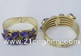 CGB823 30*68mm - 30*70mm druzy agate gemstone bangles wholeasale