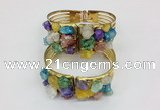 CGB825 30*68mm – 30*70mm druzy agate gemstone bangles wholesale