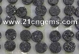 CGC120 16mm flat round druzy quartz cabochons wholesale