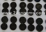 CGC125 16mm flat round druzy quartz cabochons wholesale