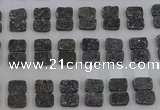 CGC200 10*14mm rectangle druzy quartz cabochons wholesale