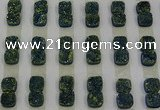 CGC218 10*10mm square druzy quartz cabochons wholesale