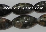 CGE148 15.5 inches 15*30mm marquise glaucophane gemstone beads