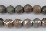 CGG14 15.5 inches 10mm faceted round ghost gemstone beads wholesale