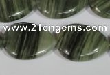 CGH56 15.5 inches 18*25mm flat teardrop green hair stone beads