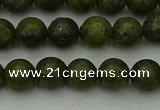 CGJ451 15.5 inches 6mm round green jasper beads wholesale
