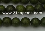 CGJ452 15.5 inches 8mm round green jasper beads wholesale
