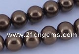 CGL111 2PCS 16 inches 25mm round dyed plastic pearl beads wholesale