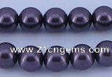 CGL133 10PCS 16 inches 6mm round dyed glass pearl beads wholesale