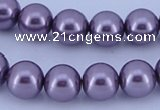 CGL143 10PCS 16 inches 6mm round dyed glass pearl beads wholesale