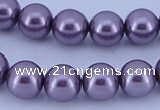 CGL144 10PCS 16 inches 8mm round dyed glass pearl beads wholesale