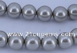 CGL177 5PCS 16 inches 14mm round dyed glass pearl beads wholesale