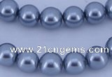 CGL187 5PCS 16 inches 14mm round dyed glass pearl beads wholesale