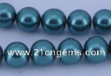 CGL251 2PCS 16 inches 25mm round dyed plastic pearl beads wholesale