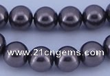 CGL404 10PCS 16 inches 8mm round dyed glass pearl beads wholesale