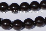 CGL898 10PCS 16 inches 8mm round heated glass pearl beads wholesale