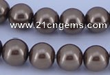 CGL97 5PCS 16 inches 14mm round dyed glass pearl beads wholesale