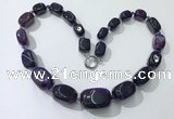 CGN103 20 inches 10*15mm - 20*30mm nuggets agate gemstone necklaces