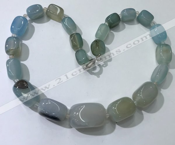 CGN106 20 inches 10*15mm - 20*30mm nuggets agate gemstone necklaces
