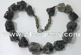 CGN143 19.5 inches 10*14mm - 20*30mm nuggets smoky quartz necklaces