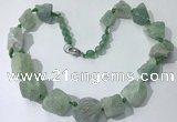 CGN144 19.5 inches 10*14mm - 20*30mm nuggets green aventurine necklaces