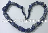 CGN163 18.5 inches 12*16mm - 13*18mm nuggets lapis lazuli necklaces
